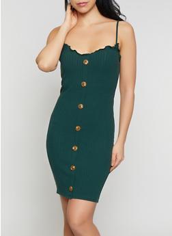 Lettuce Edge Ribbed Knit Dress - 1410066494765