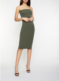 8491addf0b5e Solid Midi Tube Dress - 1410066496295