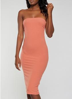 Rib Knit Tube Dress - 1410066498545