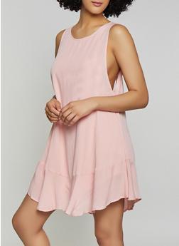 Gauze Knit Tie Back Dress - 1410068196250