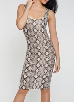 Snake Print Bodycon Dress | 1410068510538 - 1410068510538