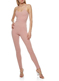 Sleeveless Lurex Catsuit - 1410068514321