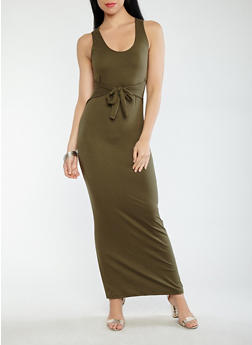 Tie Front Tank Dress - 1410068514345