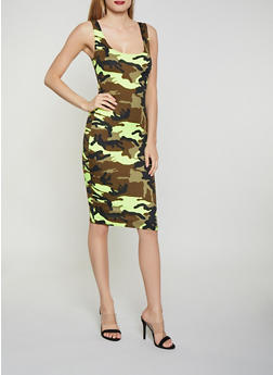 Neon Camo Tank Dress - 1410068514406