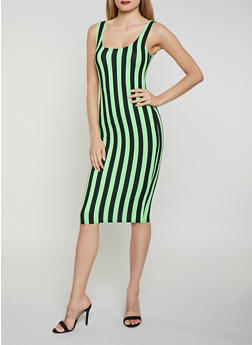 Striped Neon Tank Dress - 1410068515403