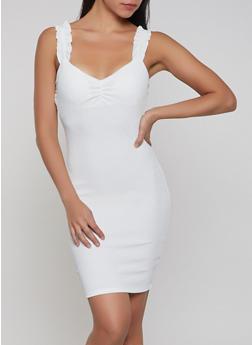 Rib Knit Bodycon Dress - 1410069390813