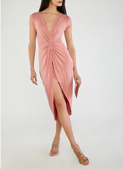Twist Front Dress - 1410069391016