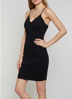 Ponte Knit Cami Bodycon Dress - 1410069391042