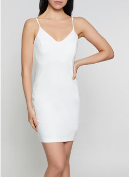 Ponte Knit Cami Bodycon Dress - 1410069391042