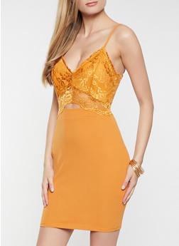 Keyhole Lace Bodycon Dress - 1410069391095