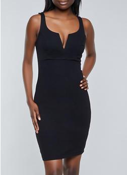 Sleeveless Ponte Bodycon Dress - 1410069391108