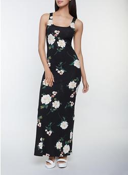 Maxi Floral Tank Dress - 1410069391314