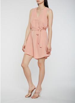 Tie Waist Dress - 1410069392008