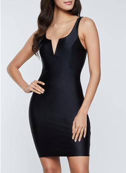 Spandex Bodycon Dress - 1410069392238