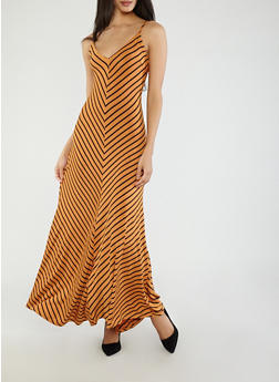 Chevron Knit Maxi Dress - 1410069392485
