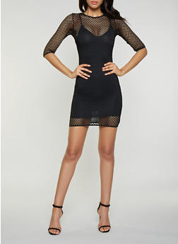 Fishnet Dress - 1410069392895