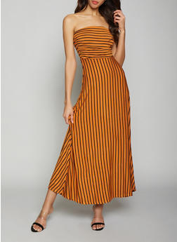 Striped Maxi Dress - 1410069393412