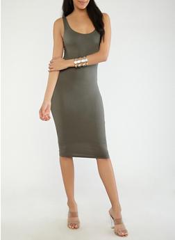 Knit Midi Tank Dress - 1410069393694