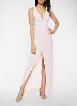 Twist Front Maxi Dress - 1410069393867