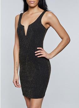 Lurex Knit Bodycon Dress - 1410069394041