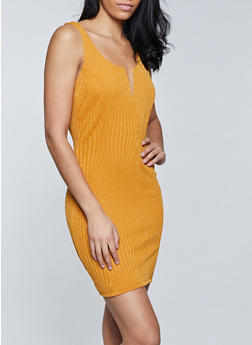 Lurex Knit Bodycon Dress - 1410069394041