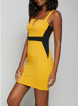 Color Block Bodycon Dress - 1410069394105
