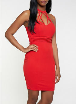 Caged Bodycon Dress - 1410069394355