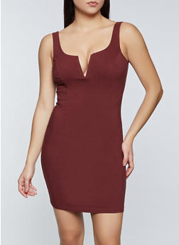 Stretch Twill Bodycon Dress - 1410069394432