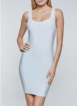 Sleeveless Lurex Bodycon Dress - 1410069394473