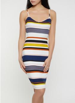 Striped Rib Knit Cami Dress | 1410069394936 - 1410069394936