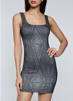 Glitter Bodycon Dress - 1410069395322