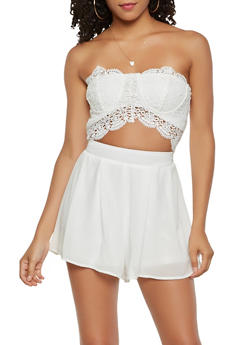 Cut Out Crochet Romper - 1410069396967