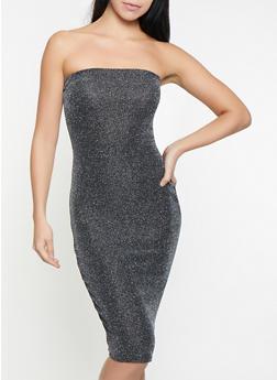 Shimmer Knit Tube Dress - 1410072242771