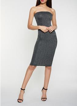 Glitter Knit Tube Dress - 1410072244054
