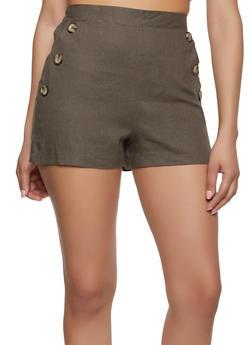 Linen Sailor Shorts - 1411054211521