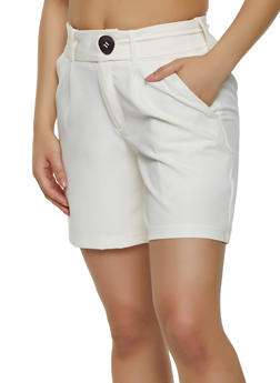 Belted Dress Shorts - 1411056570295