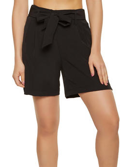 High Waisted Dress Shorts - 1411056573212