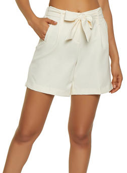 High Waisted Dress Shorts - 1411056573212