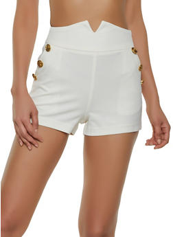 Sailor Crepe Knit Shorts - 1411056574526