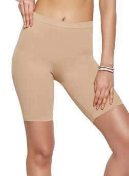 Ribbed Knit Bike Shorts - 1411058751661