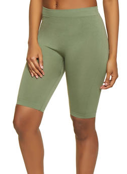 Solid Bermuda Bike Shorts - 1411062703878