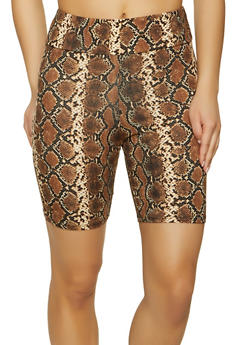 Soft Knit Printed Bike Shorts - 1411066495572