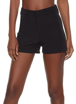Womens Black Dress Shorts