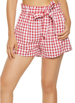 Printed Stretch Waist Shorts - 1411069393027