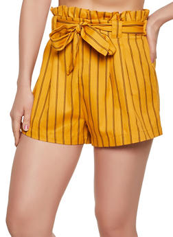Striped Belted Shorts | 1411069393069 - 1411069393069