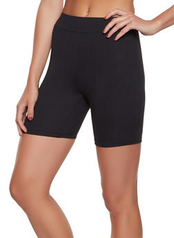 Soft Knit Solid Bike Shorts - 1411069393082