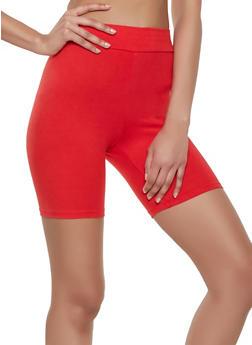 Soft Knit Solid Bike Shorts - 1411069393082