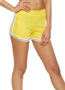 Striped Trim Track Shorts - 1411072290042