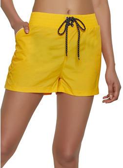 Lace Up Windbreaker Shorts - 1411072290112