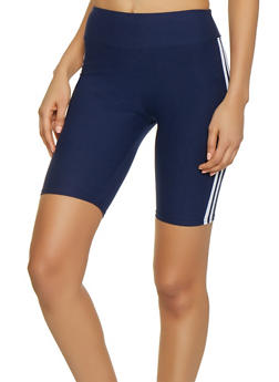 Varsity Stripe Bermuda Bike Shorts - 1411072290207